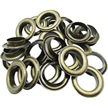 Amanaote 2mm Internal Hole Diameter Bronze Eyelets without Washers Pack of 200