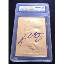 Leaf Kobe Bryant 1996-97 Fleer Autographed WCG GEM MT 10 23KT Gold Rookie Card!