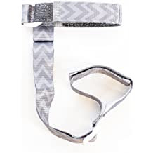 Gray//White Chevron BooginHead SippiGrip Sippy Cup strap Sippy Cup Holder