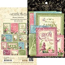 48 Sheets 80-009 PENNY BLACK Painted Blooms NEW 6/'/'x6/'/' Designer Paper Pad