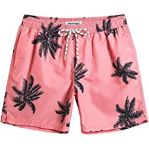 03fe6a9422cc0 MaaMgic Mens Slim Fit Quick Dry Short Anchor Swim Trunks with Mesh Lining