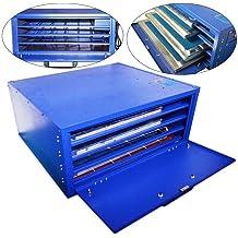 HYYKJ 4 Layers Screen Printing Drying Cabinet Exposure Screen Press Warming Machine 110V 800W US Plug 25 x 21 Max Screen Frame Size