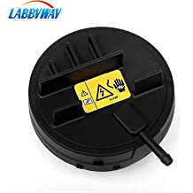 LABBYWAY 12 Volts-Universal Low Pressure 2.5-4 PSI Gas Diesel Inline Electric Fuel Pump HEP-02A Silvery