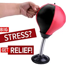 Stress Relieve with Strong S... REEHUT Desktop Punching Bag//Ball Stress Buster