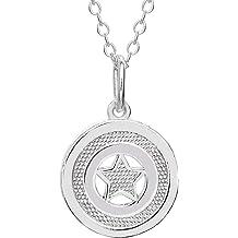 Steve Captain America Winter Soldier Bucky 925 Silver Necklace Bead Pendant Be