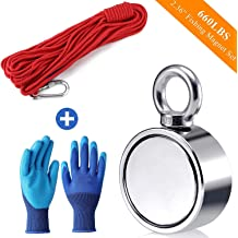 Mutuactor Fishing Magnets150KG Strong Pull Force Powerful Neodymium Magnets N52 with 20m Durable Rope,Retrieval Magnet for Retrieving and Magnetic Recovery Salvage in River
