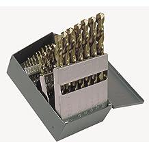 Short Flute Black Oxide Cleveland 3780 Cobalt Steel Jobbers Length Drill Bit Pack of 5 Letter Size N 135 Degree Split Point Round Shank