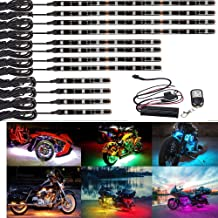 2pc 47inch Extension Cable Wire Cord Set for LED motorcycle ATV car Light Multi-color Neon Strip