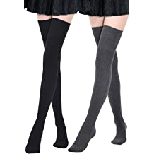 831a8b8f7 Kayhoma Extra Long Cotton Thigh High Socks Over the Knee High Boot Stockings  Cotton Leg Warmers