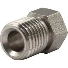 Stainless Steel 45 Degree Swivel Female 3AN 3//8-24 Thread to AN3 PTFE Hose End Brake Fitting For Teflon Hose with Brass Olive Insert