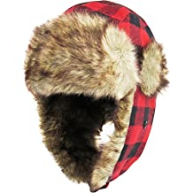 b205842c441ef3 Unisex Winter Trooper Hat Collection for Men and Women Lumberjack Ushanka Ear  Flap Chin Strap and