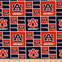 Sykel Enterprises NCAA Auburn University Tigers Distressed Logo Allover Fabric by The Yard