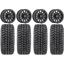 Bundle STI HD4 15 Wheels Black 30 Regulator Tires 4x137 Bolt Pattern 10mmx1.25 Lug Kit 9 Items