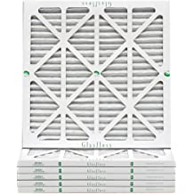 Removes Dust Pollen and Many Other Allergens Made in USA 20x25x1 Air Filter 6-Pack Pleated MERV 10 By Glasfloss