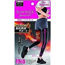 cd1117abc29c8 PIP Slim Walk Beau Acty Combustion Shape Leggings Sports Black M ~ L Size