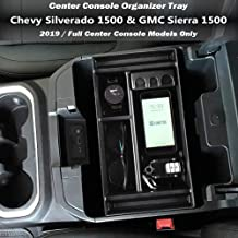 GMC Sierra 1500,ABS Tray Insert Armrest Box Secondary Storage for GM Accessories 84106530 Heart Horse Center Console Organizer for 2019 Chevy Silverado 1500