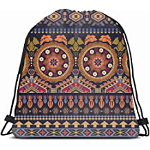 Pinbeam Luggage Cover Watercolor Paisley Cold Colors Indian Persian Turkish Handdrawn Travel Suitcase Cover Protector Baggage Case Fits 18-22 inches