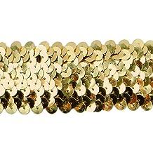Stretch Sequin Trim Gold Expo International IR6706GL-20 20 Yds of 3 Row 1 1//4 Met