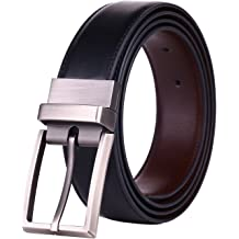 c30216e7c Beltox Fine Men  39 s Dress Belt Leather Reversible 1.25 quot  Wide Rotated  Buckle