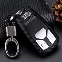 2pcs Compatible with Audi Smart 4 Bts Silicone FOB Key Case Cover Protector Keyless Remote Holder for 2019 2018 2017 Audi A4 allroad A5 A6 A7 A8 Q5 Q7 R8 RS7 S4 S5 S6 S7 S8 SQ5 TT Quattro Sportback