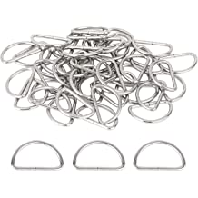 Gunmetal CRAFTMEmore 100 Pack 1 Inch Metal D-Rings Non Welded Dee Ring for Bag Landyard DIY Craft Accessories