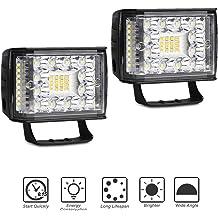 Rigidhorse 4Pcs 4 Inch 120W Light Pods Spot Lights LED Light Cubes Driving Lights Work Light For Cars Jeep Pickup ATV UTV SUV Trucks With Slidable Mounting Bracket LED Light Bar