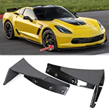 ECOTRIC Painted Black Rear Bumper Air Diffuser Fins Body Kit For 14-19 Corvette C7