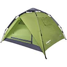 KingCamp 3-Persons 2-Seasons Quick-Up 2-IN-1Durable Roomy Outdoor Camping Tent with Two Door Awnings