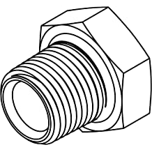 Tompkins Carbon Steel 12MP HOLLOW HEX PLUG 5406-HHP-12 Hydraulic fitting 3//4-14 Male NPT