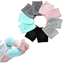 GuGio Baby Crawling Anti-Slip Knee Pads,1 Pair Cotton Knee Guards for Toddler Baby Unisex Infant