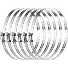 70~90mm, 2 Pack Ronteix Full 304 Stainless Steel Adjustable Worm Drive Hose Clamp