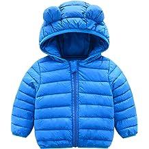 8f4f6f49da1c7 المعاطف الشتوية للأطفال مع القلنسوات (مبطن) ستره الخفيفة للبنين الطفل  البنات ، الرضع ،
