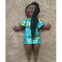 Hand Painted Multicultural Doll African American Doll Natural Hair Styles Handcrafted Head Wrap Ethnic Doll Black Doll Maker Collectible Doll African Inspired Black Doll 11 inch Doll