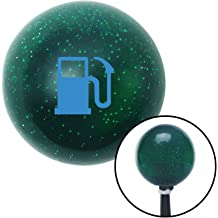 American Shifter 36554 Orange Metal Flake Shift Knob with 16mm x 1.5mm Insert Green Gas Station Tank