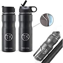 21251180ca9 Travel Kuppe Vacuum Insulated Stainless Steel Cycling Sports Water Bottle,  Includes Both Straw and Sip