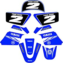 Enjoy MFG 2006-2014 Yamaha TTR 50 Black Sides Blue Top Full Gripper Seat Cover
