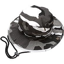 87acc315 Summer Outdoor Boonie Hunting Fishing Safari Bucket Sun Hat with Adjustable  Strap