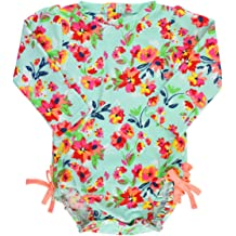 558971c4e2 RuffleButts Baby/Toddler Girls UPF 50+ Sun Protection Long Sleeve One Piece  Swimsuit with