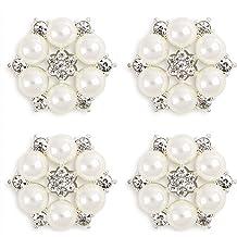 LoveinDIY 100 Mixed Pearls Cabochon Embellishments Wedding Card Making Flatback Craft