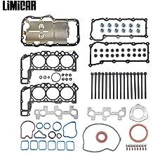 LIMICAR Cylinder Full Head Gasket Set Head Bolts For 1999-2001 Jeep Cherokee 1999-2003 Jeep Grand Cherokee 4.0L VIN S 2000-2003 Jeep TJ Wrangler 4.0L VIN S V