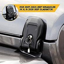 OsoTorero Hood Vents Hood Lock Latches Catch Kit for Jeep Wrangler 2018 2019 JK JL Black