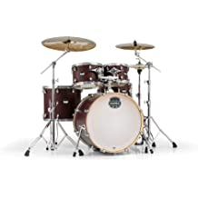 7 Piece Shell Pack in Cherry Sparkle Lacquer Finish. Gutermann Mapex SW728SURL Saturn Series Walnut and Maple Plus bass Fusion Pop 22