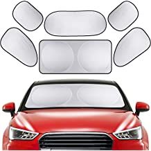 Standard 59 x 31.5 inches PEYOU Car Windshield Sun Shade Bonus 2 PACK Car Side//Rear Window Sun Shade-Protect Your Car from Heat and Damage-Reflective Coating-Foldable Sunshade-Keep Your Car Cooler
