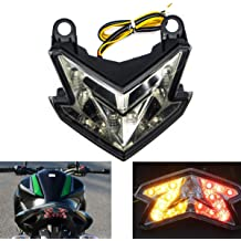 MFC PRO Universal Smoked Integrated Motorcycle 25 LED Tail Light with Turn Signal Function for Dirt Bike Buggy Chooper Cruiser ATV Smoke