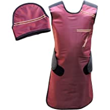 Lead Apron with Robust Hanger for Hospitals Maroon Equivalency Protection for Working with X-Ray Machine pb HealthGoodsIn Labs Lead Apron 0.5mm Lead Etc. Nursing Homes