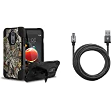 4 Foot ACU Camo Cable USB Type C , Atom Cloth USB-C 90 Degree//Right Angle Samsung Galaxy S9 Bundle: Tactical EDC MOLLE Utility Waist Pack Holder Pouch