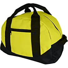 """12/"""" Duffel Duffle Travel Sports Gym Bags Mini Carry-on Luggage Small Two Tone"""