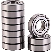 Double Seal and Pre-Lubricated Deep Groove Ball Bearings. Rotate Quiet High Speed and Durable XiKe 10 Pack 608-2RS Precision Bearings 8x22x7mm