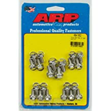 ARP 434-1804 Stainless Steel Oil Pan Bolt Kit for Small Block Chevy