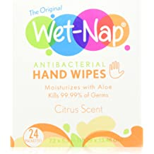 Pack of 100 Perfectware Moist Naps-100ct Moist Wet Naps Slight Lemon Scent